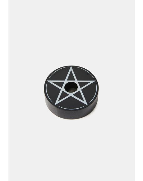 Spell It Out Pentagram Candle Holder