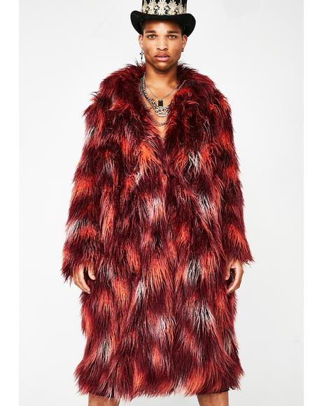 Tripped Out Tycoon Unisexx Fur Coat