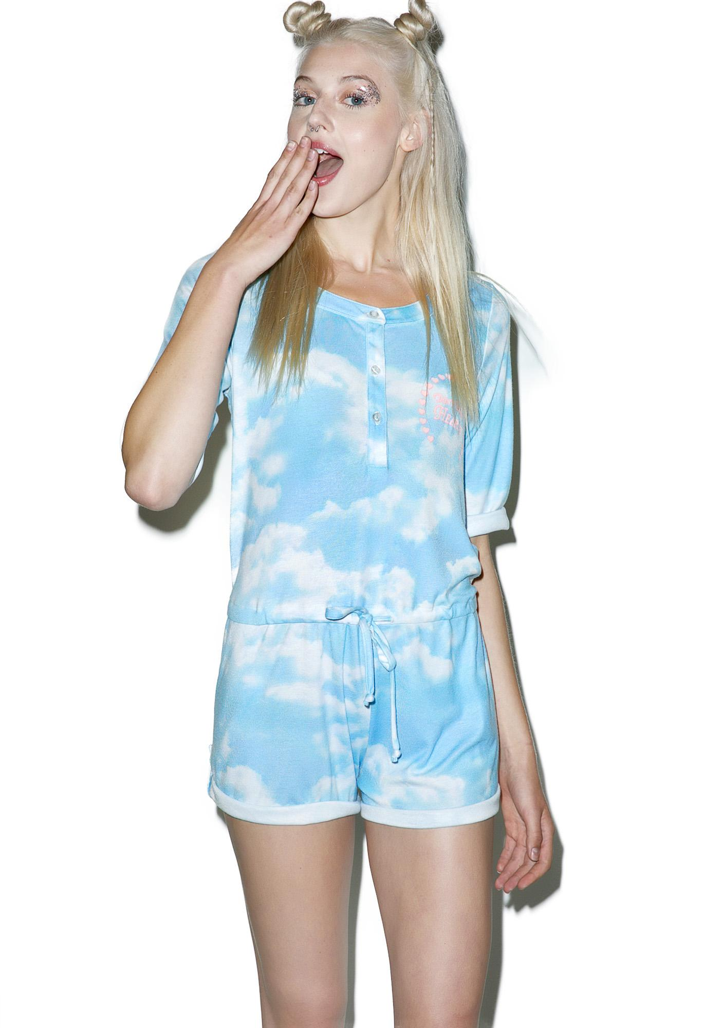 Wildfox Couture Above The Clouds Forest Romper