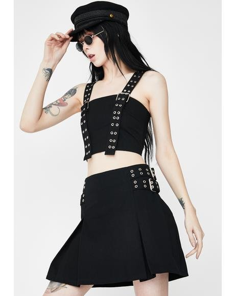 Control Buckle Crop Top