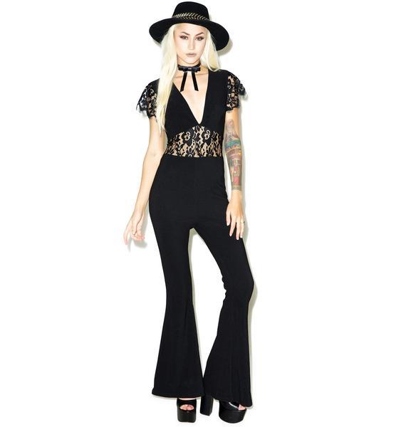 Black Widow Lace Jumpsuit