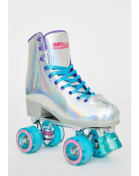 Holographic Impala Quad Skates
