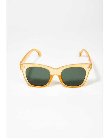 Honey Stevie Clear Frame Sunglasses