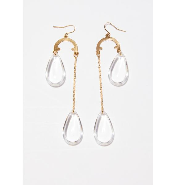 Hidden Gem Drop Earrings