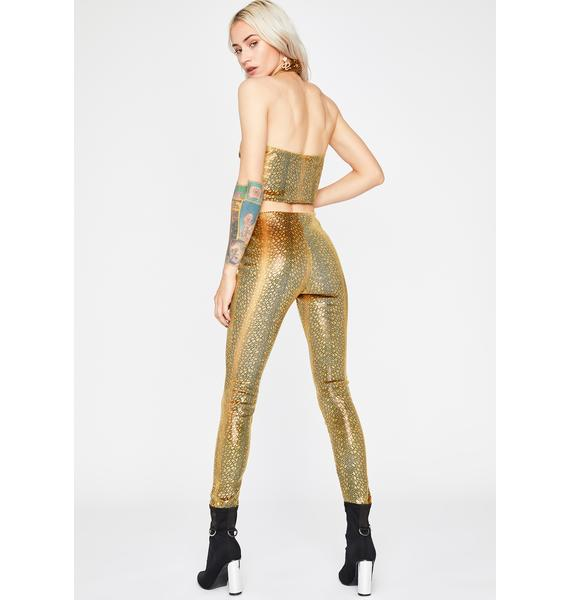 Golden Rough Times Legging Set