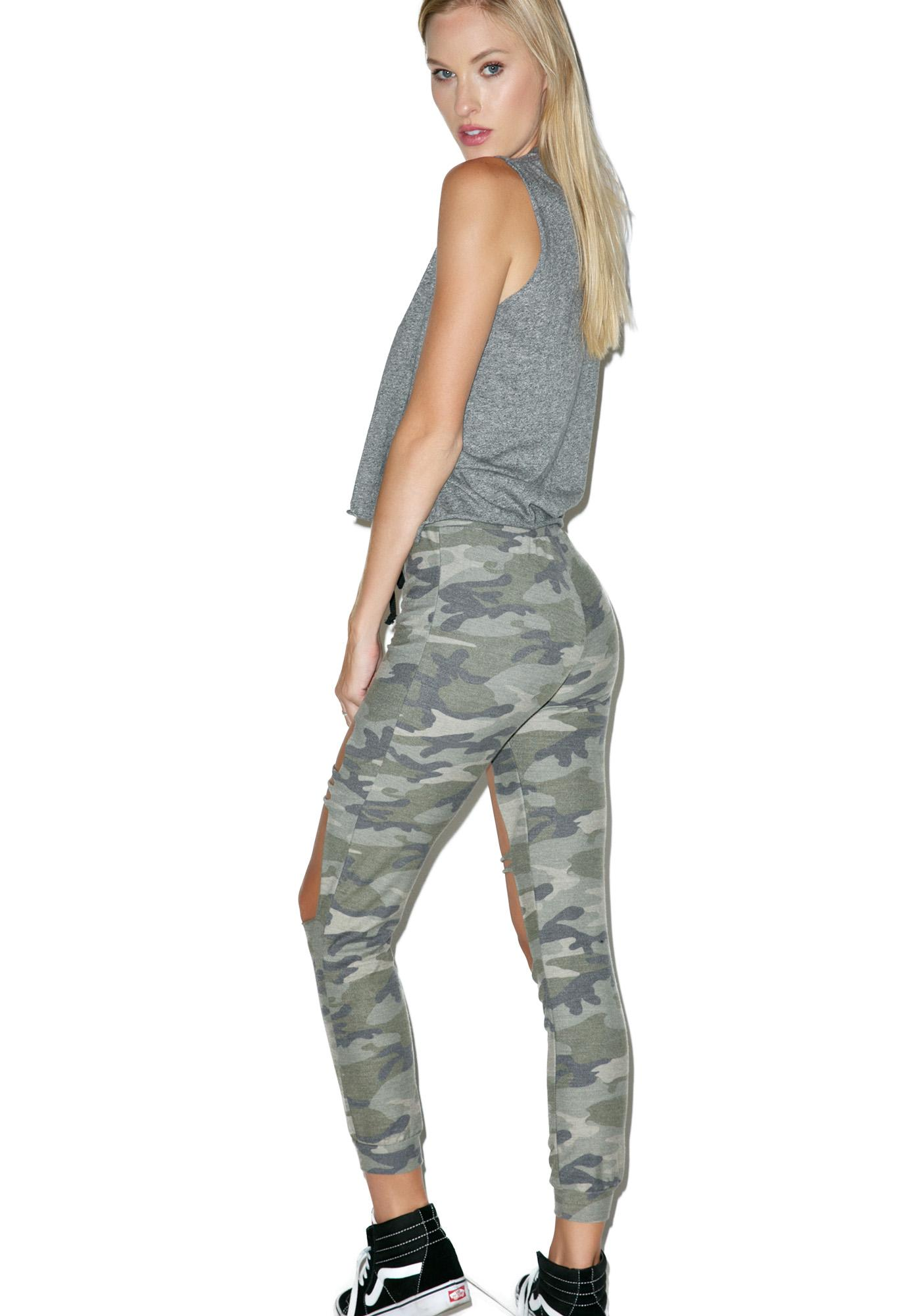 Camo Cut-Out Joggers