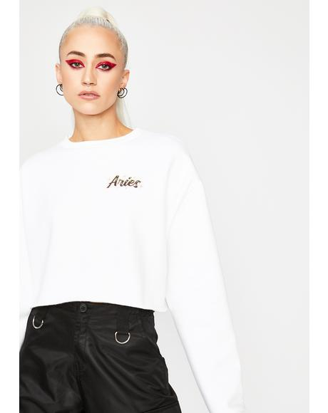 Aries Rep Your Roots Airbrush Sweatshirt