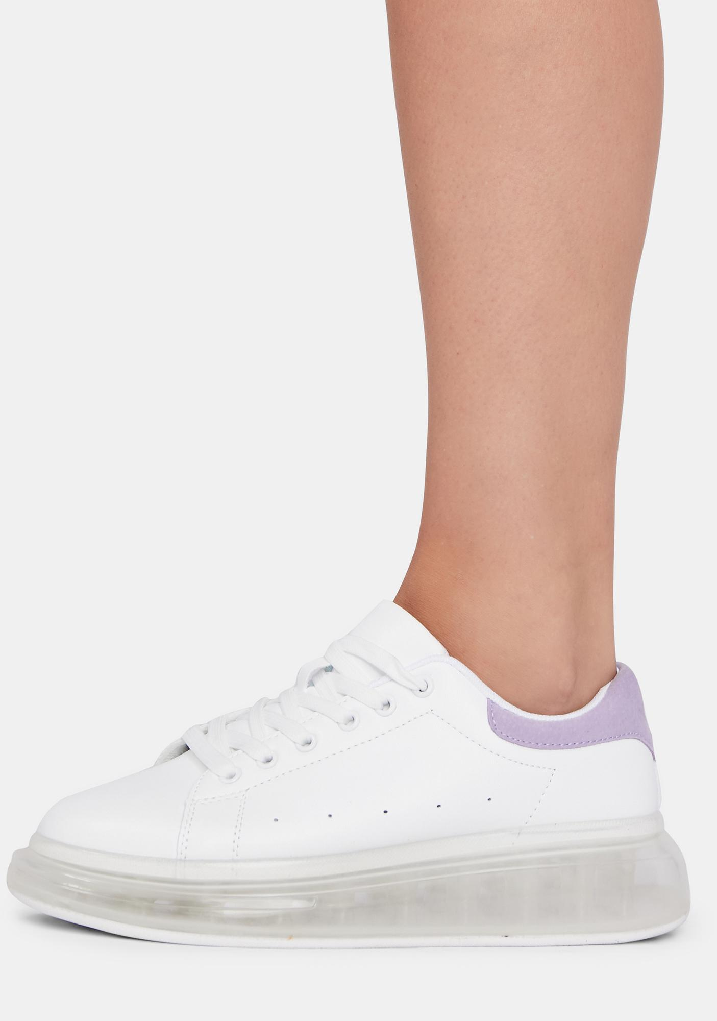 Violet Clean Sweep Lace Up Sneakers
