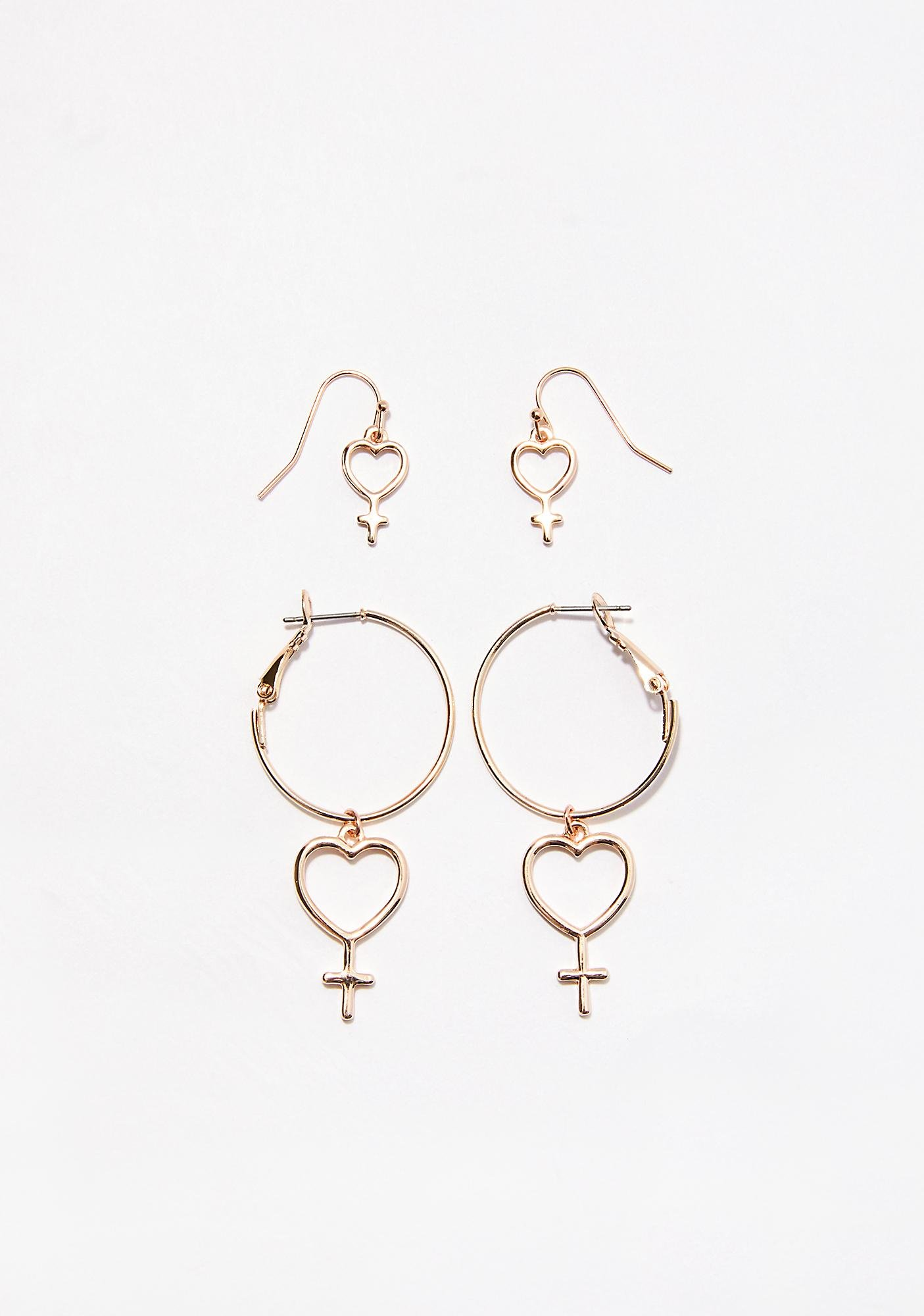 Affair Of The Heart Earring Set