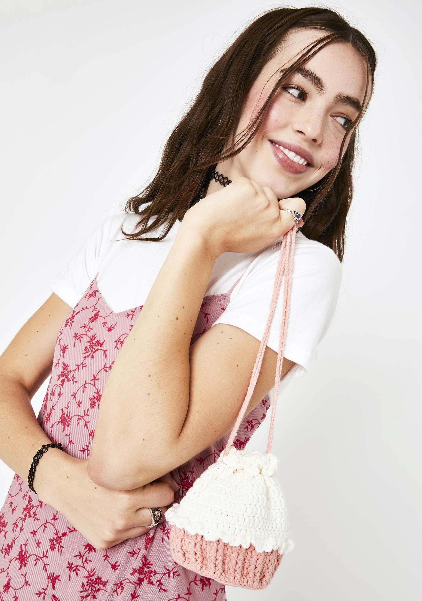 Cherry On Top Knitted Crossbody Bag