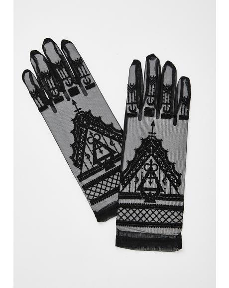 Double Chain Fishnet Gloves