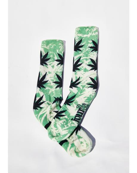 Overgrown Plantlife Crew Socks
