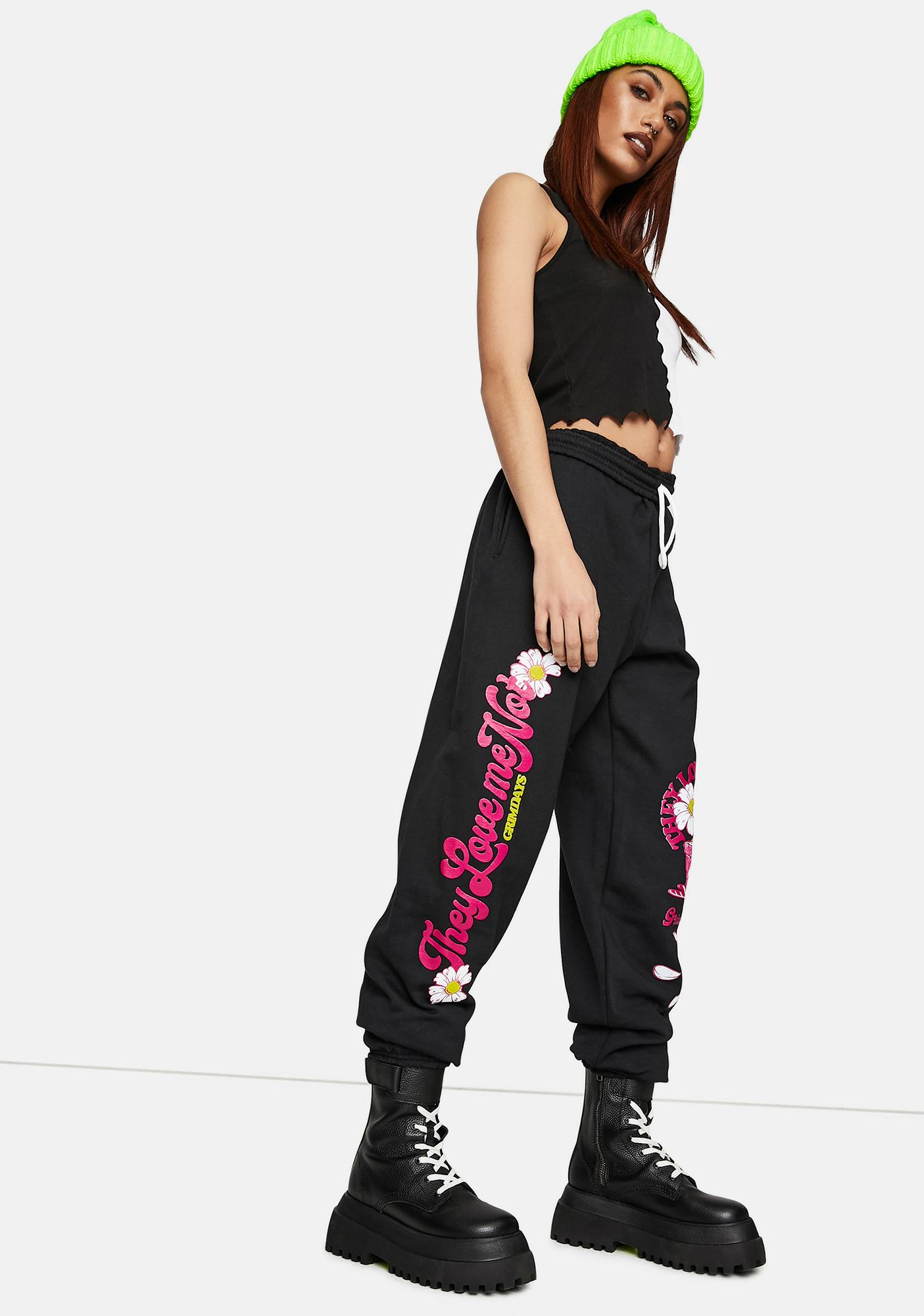 GRIM DAYS Love Me Graphic Sweatpants