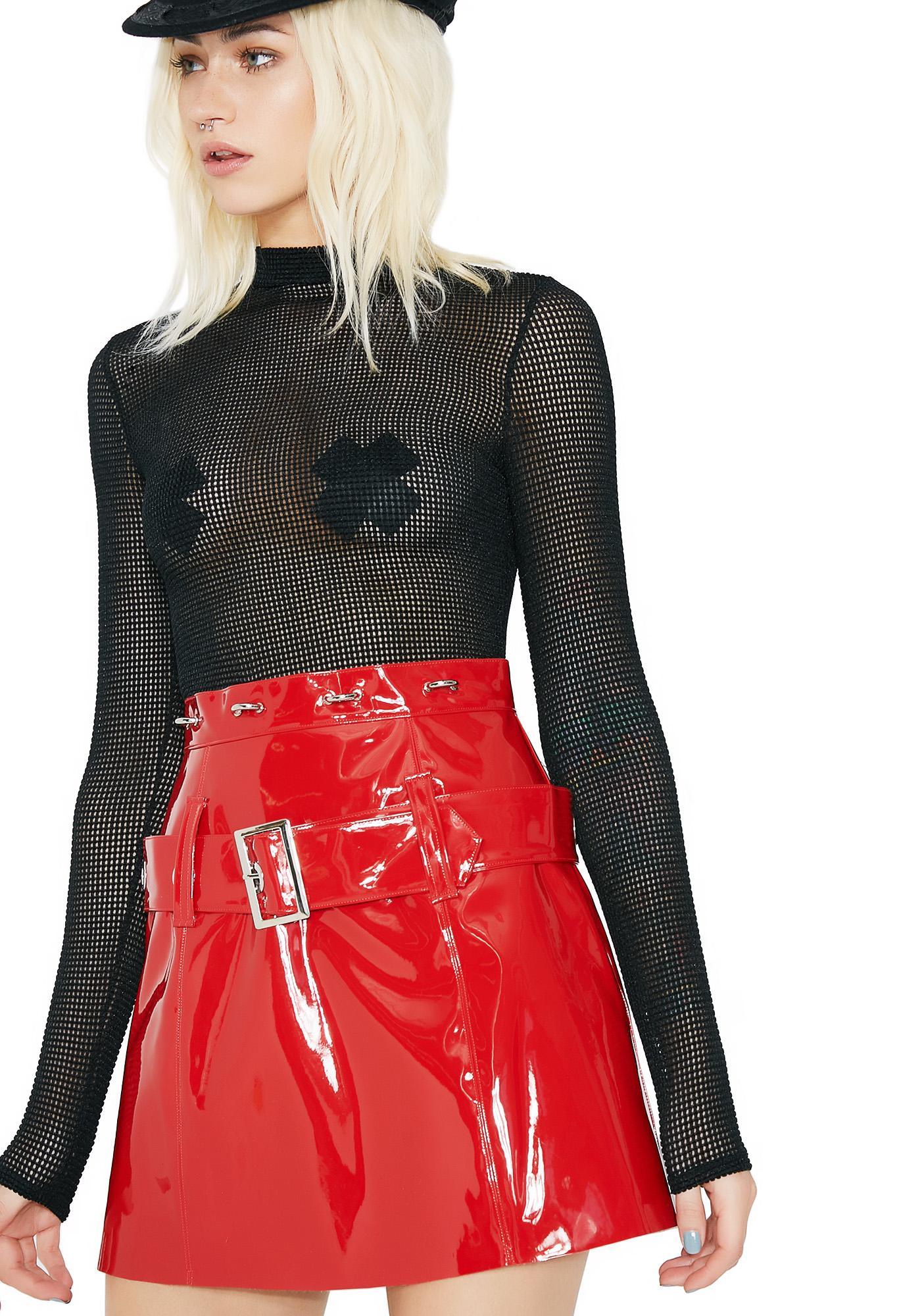 Stuck on Stupid High Alert Vinyl Skirt