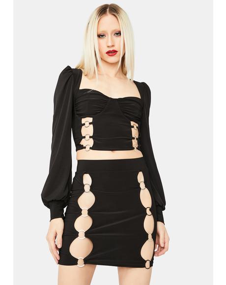 Little Miss Diva Cutout Mini Dress