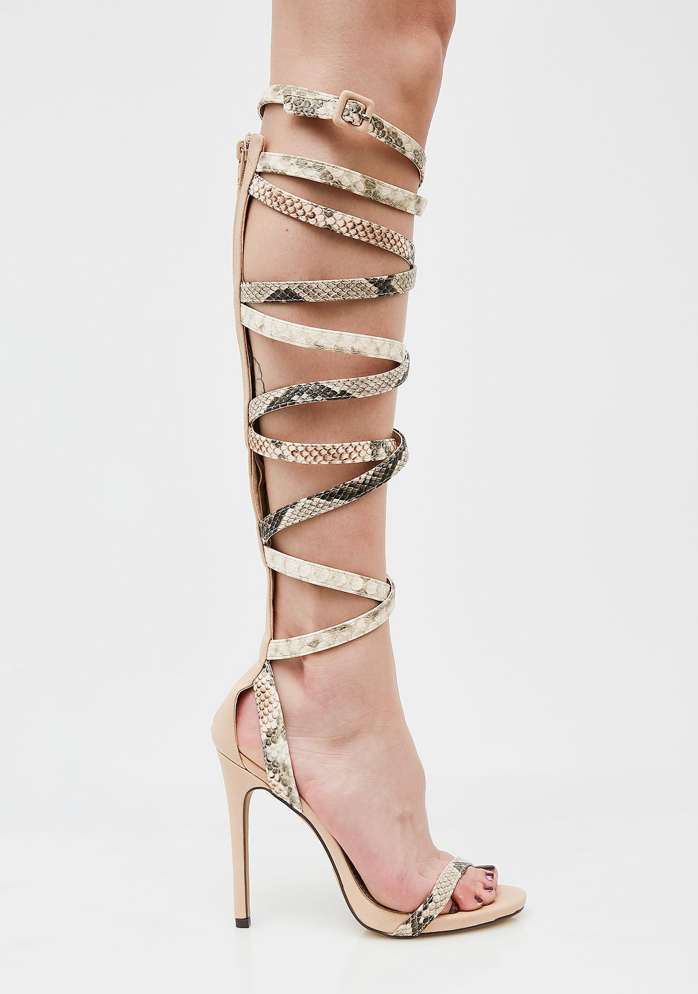 Snake Charmer Wrap Heels