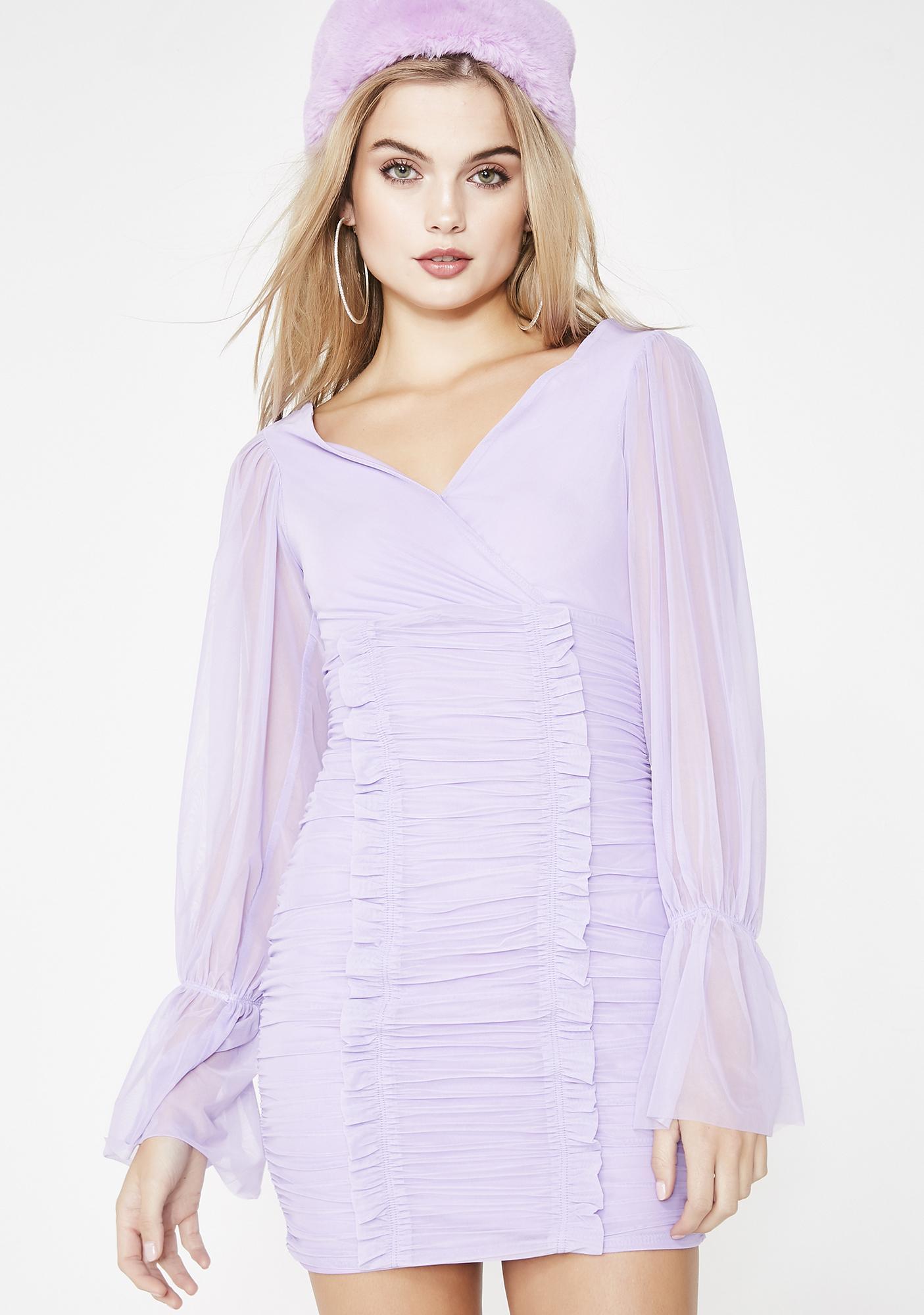 Lilac Always On Ya Mind Mini Dress
