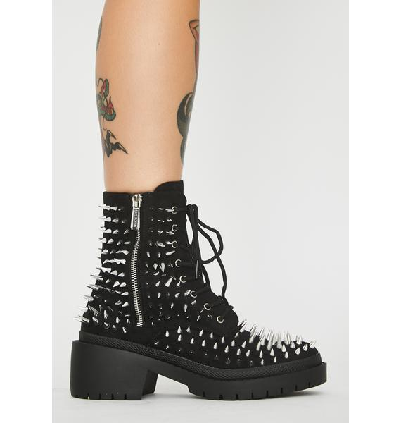 Risky Tryst Spiked Boots
