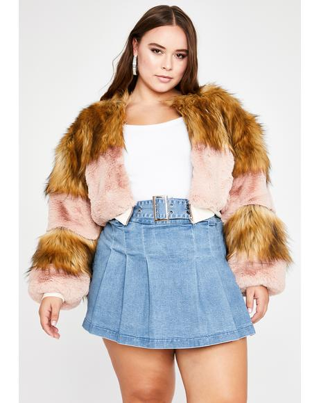 In Bliss City Faux Fur Jacket