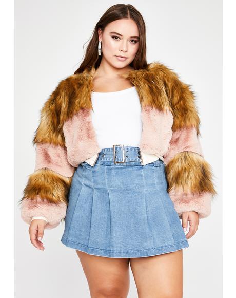 In Bliss City Faux Fur Jacket