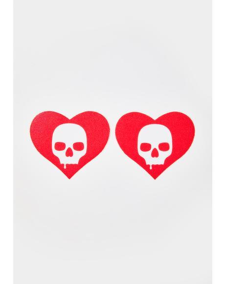Heart Skull Pasties