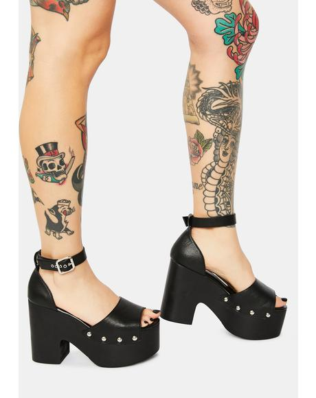 Petra Studded Platform Heels
