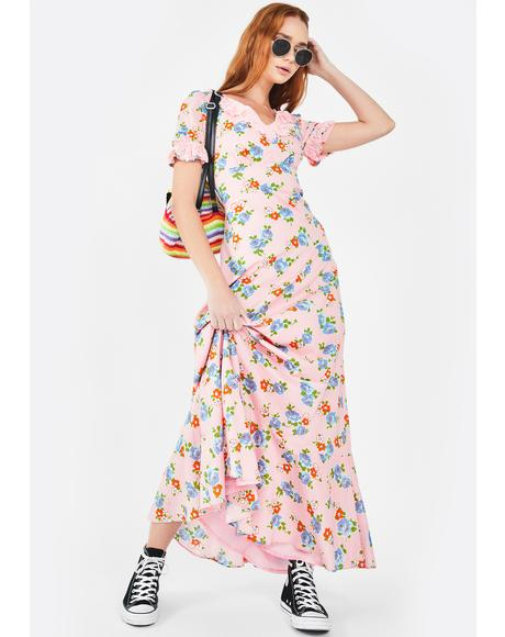 Woodstock Flower Maxi Dress