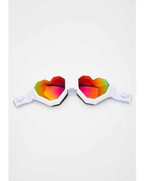 White Heart Goggles