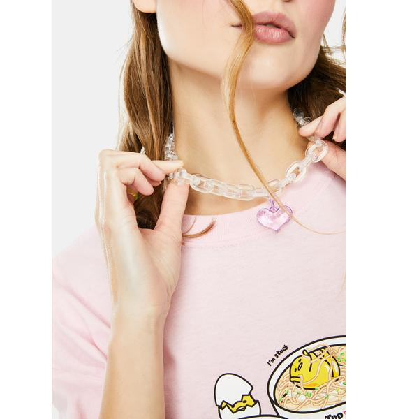 Spend The Night Heart Chain Necklace