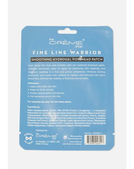 Wrinkle Warrior Smoothing Hydrogel Forehead Patch