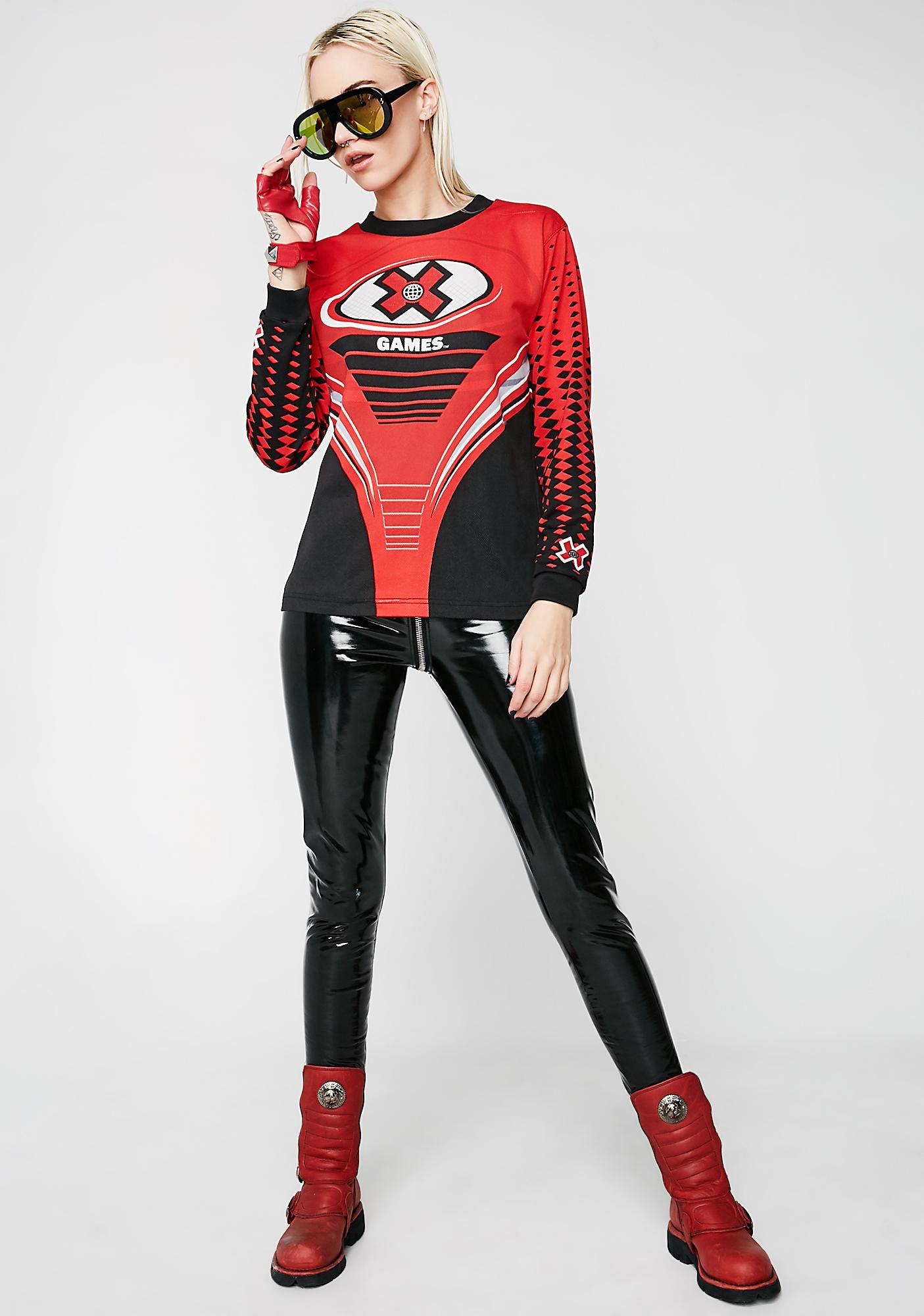 Vintage X Games Red Motocross Shirt