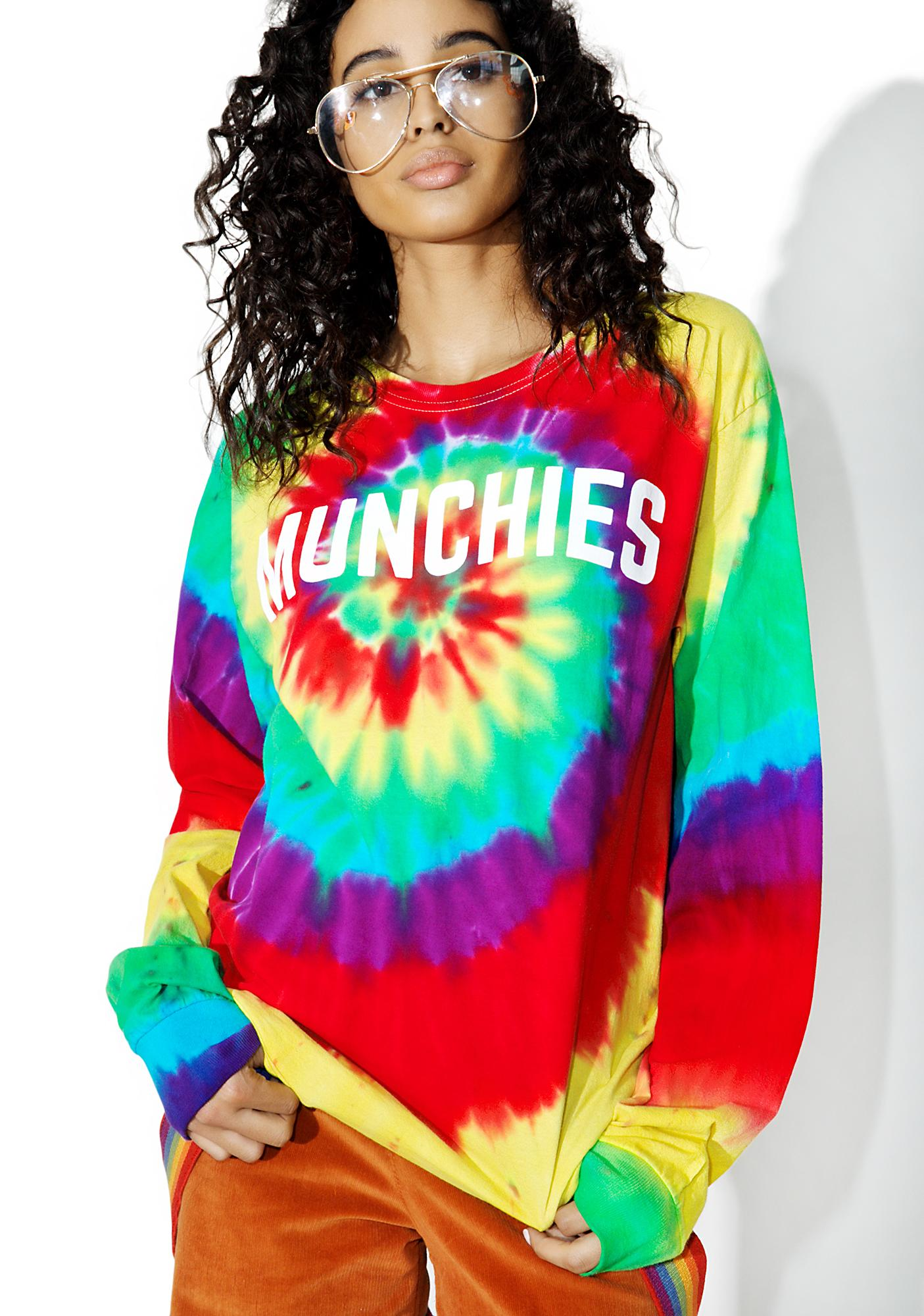 Camp Collection Munchies Tie Dye Crew Neck Tee