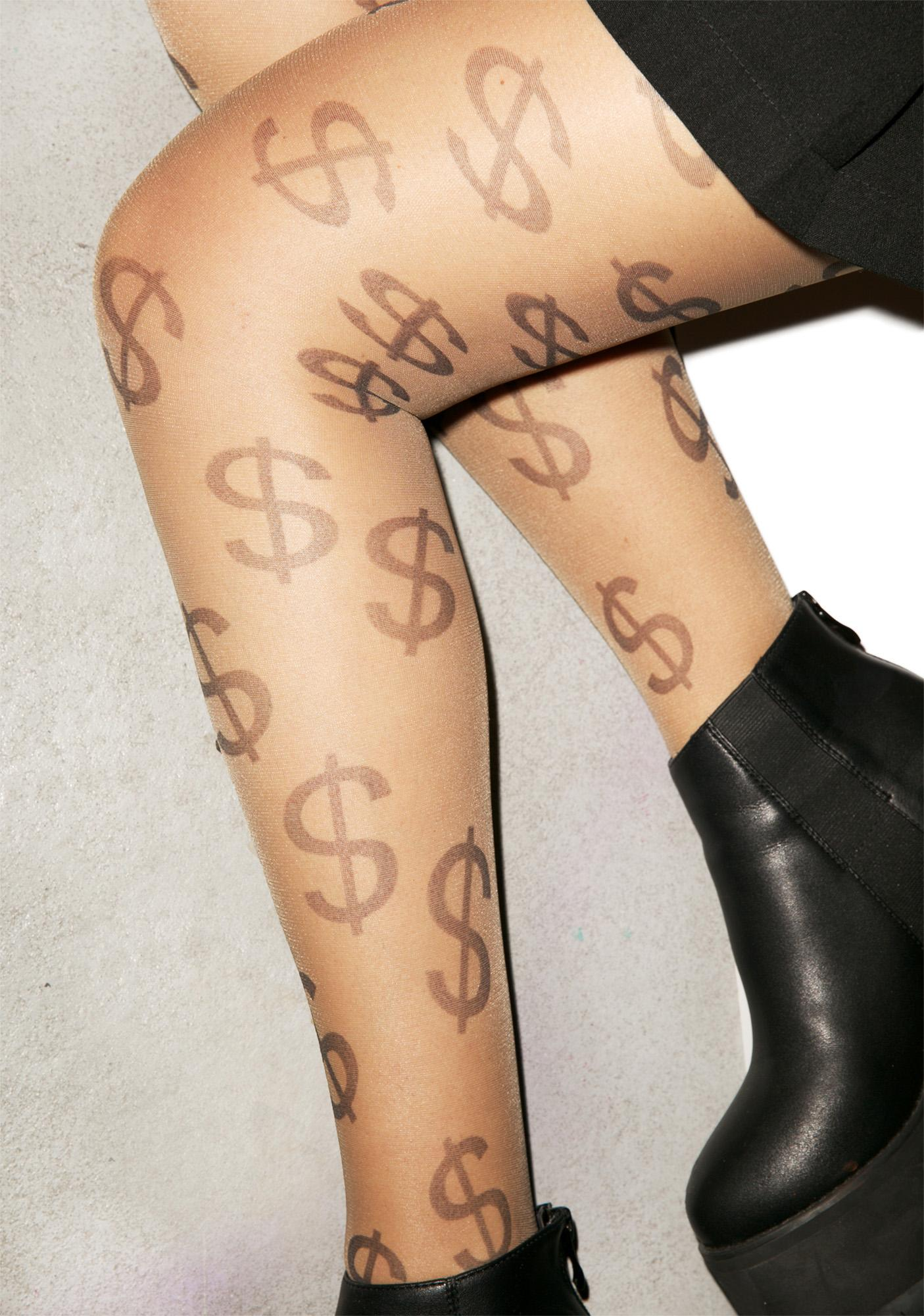 All I See Are Dollar Signs Tights