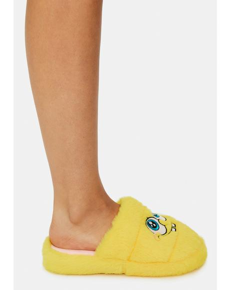 X Spongebob Fluffy Slippers