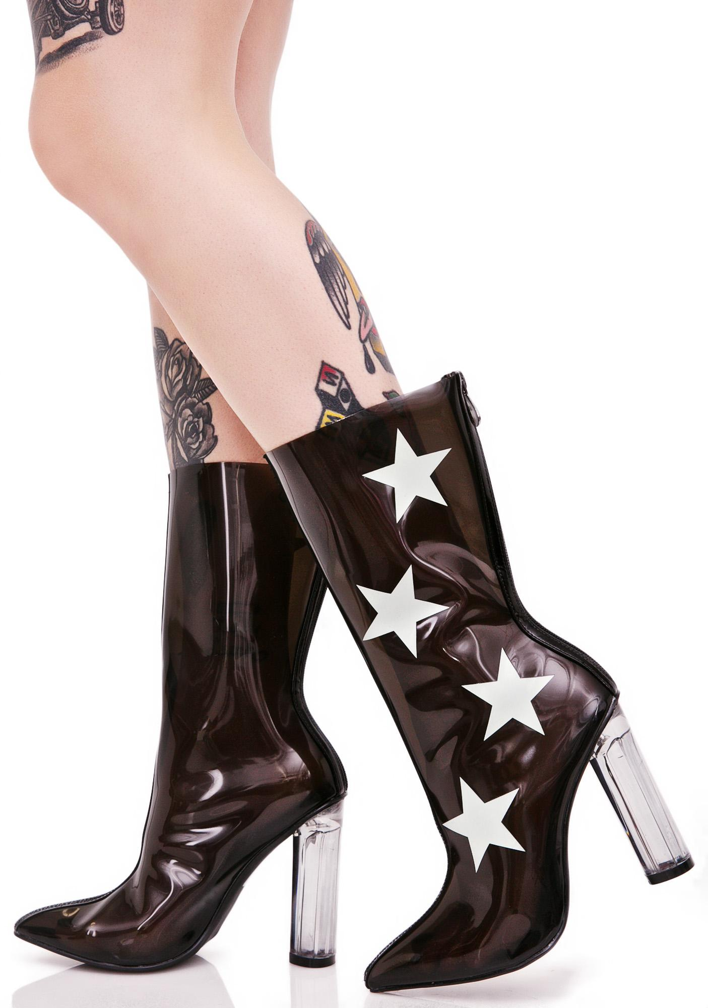 Glowing Vesta Clear Boots