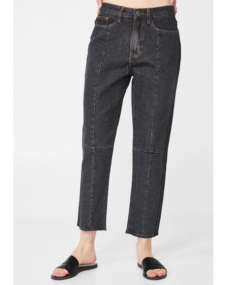 Crop High Waist Jeans