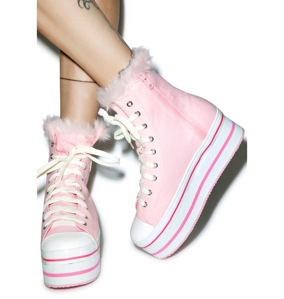 Y.R.U. Bubble Pop Elevation Sky Platform Sneakers