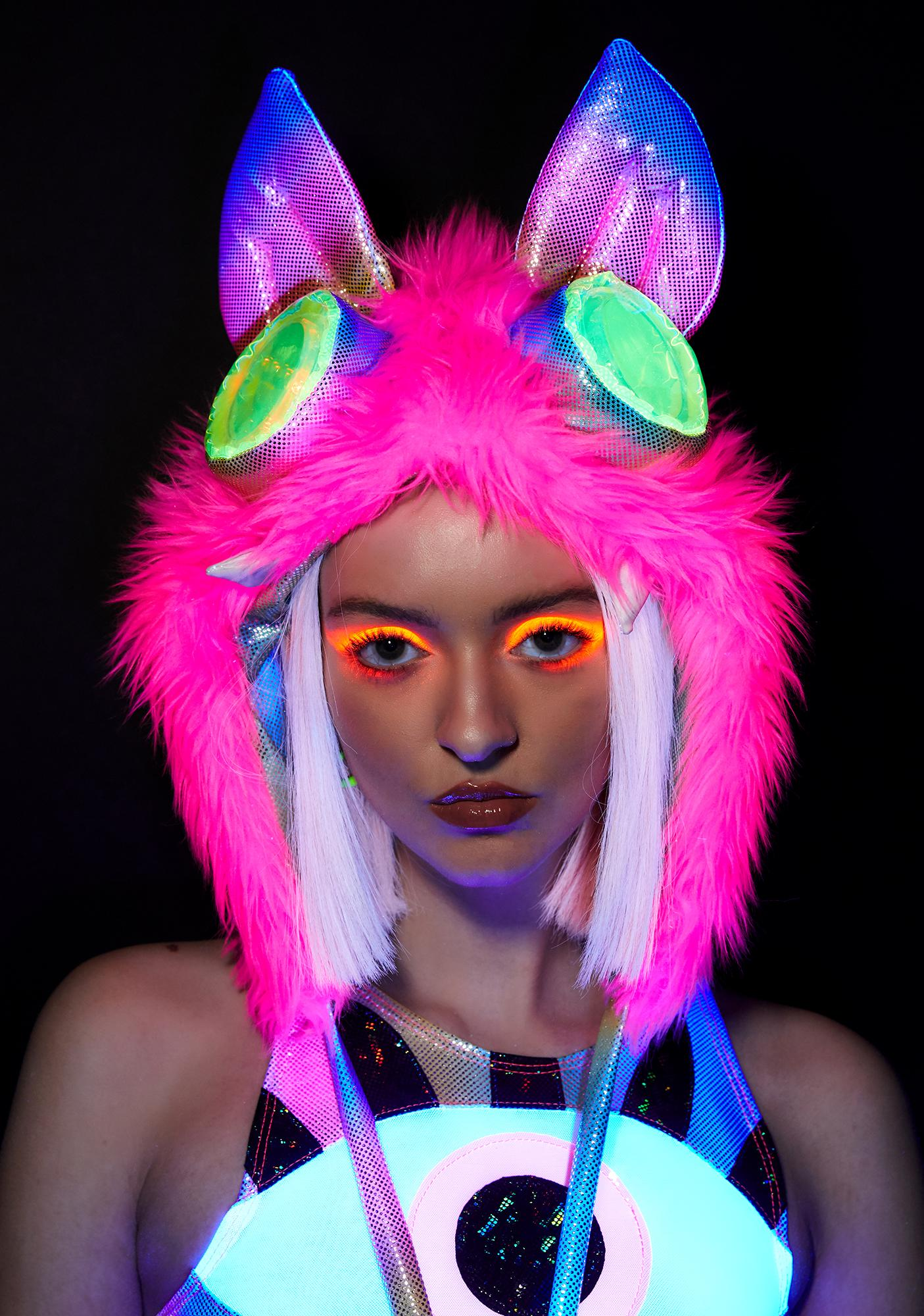 J Valentine Light Up Monster Hood