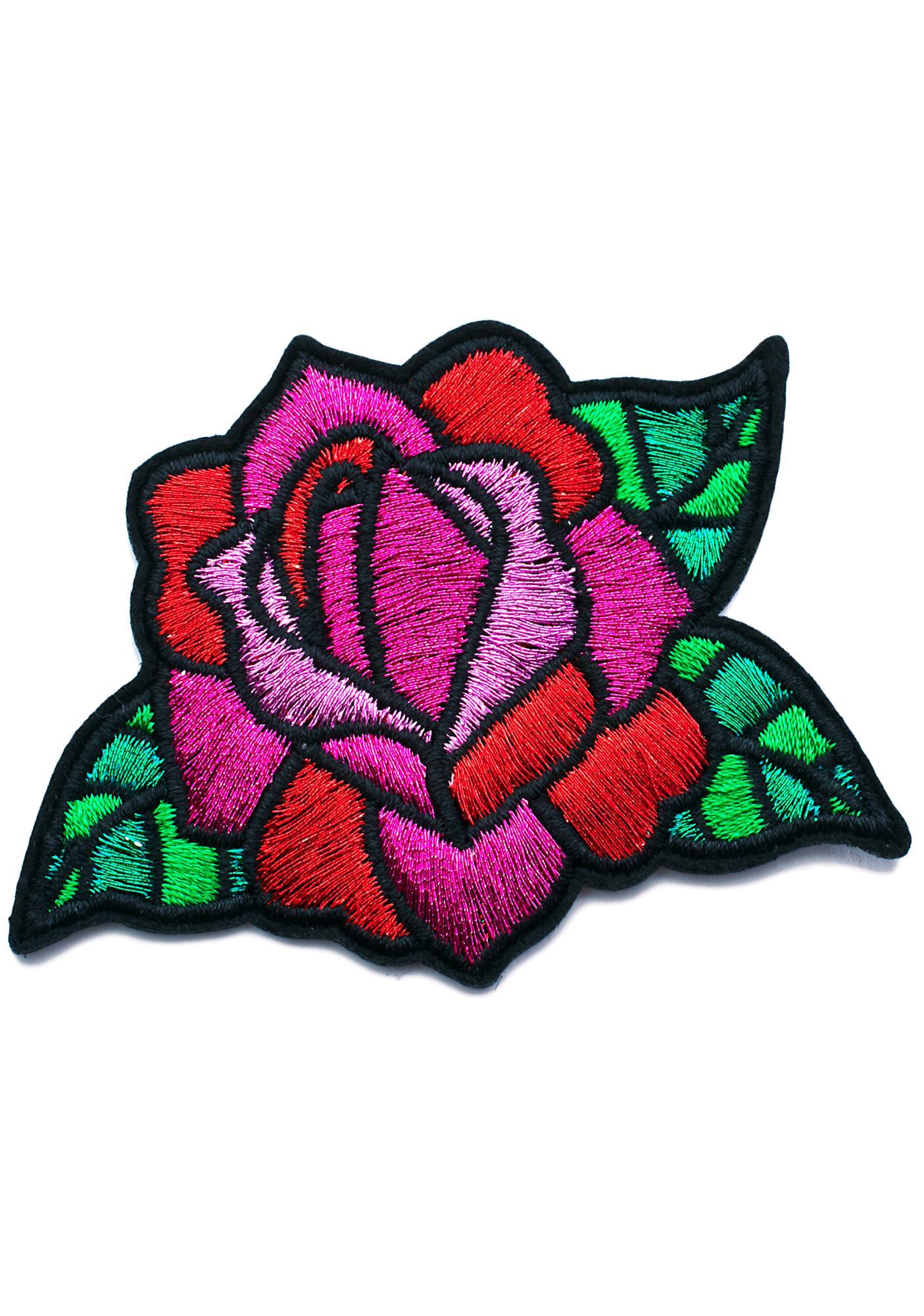 Skinnydip Rose Iron On Patch