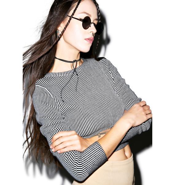 Glamorous The Fine Line Crop Sweater