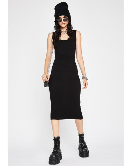 Chic All Day Ribbed Dress
