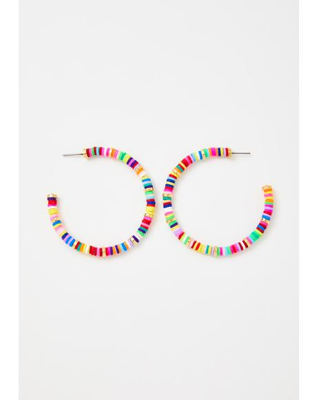 International Diva Beaded Hoops