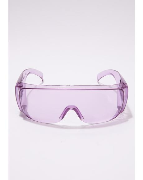 Stop Pass The Test Shield Sunglasses