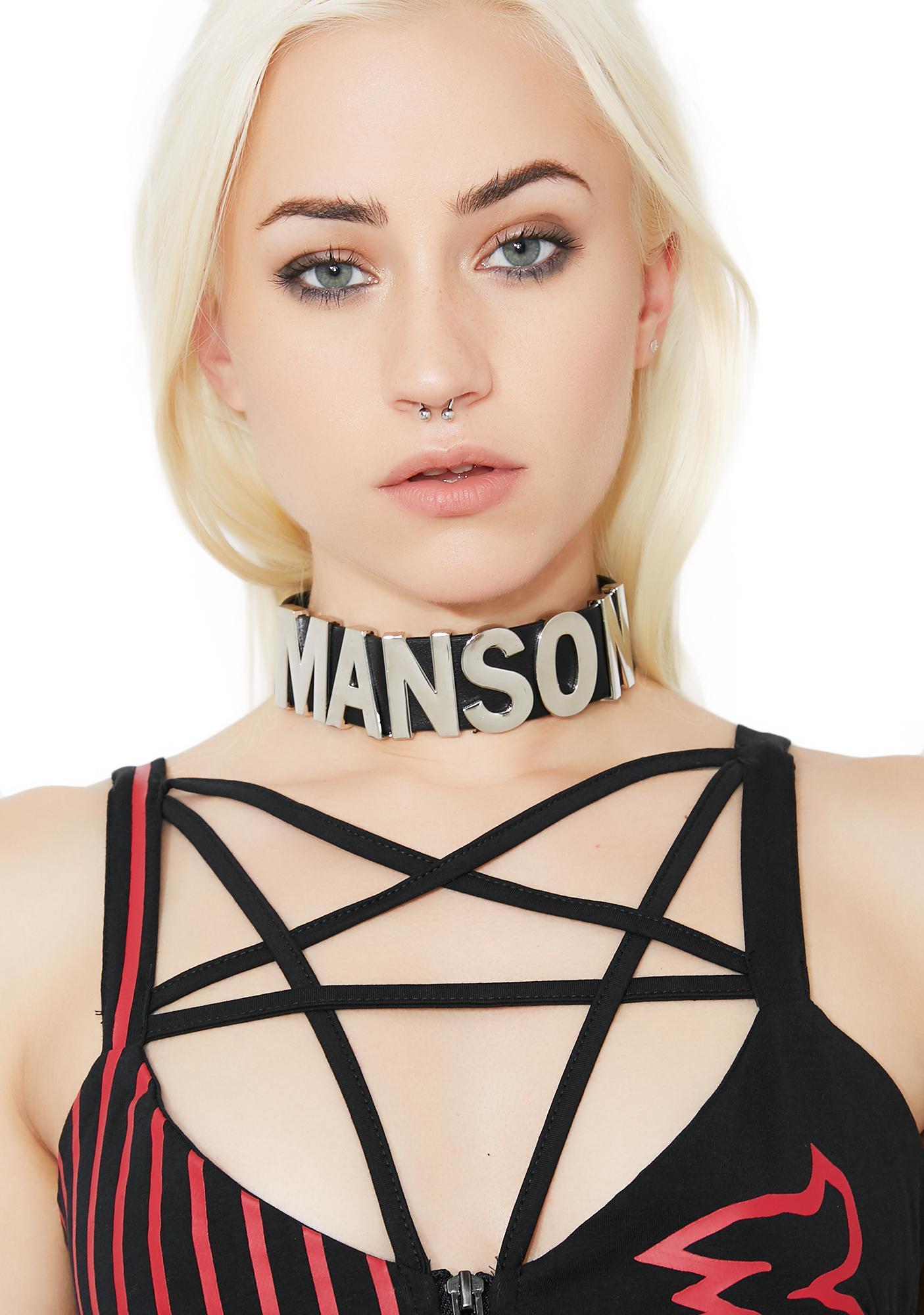 Killstar My Manson Letter Choker