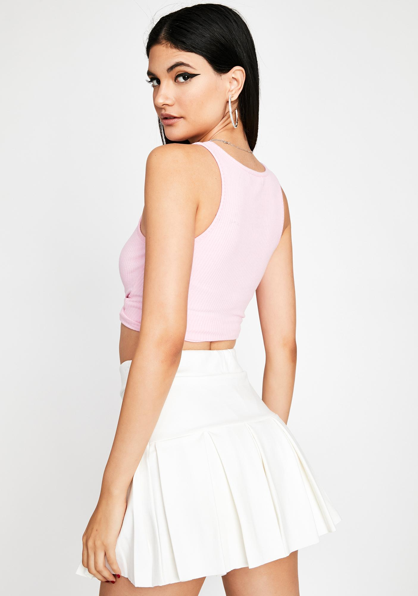Pure Pinky Promise Pleated Skirt