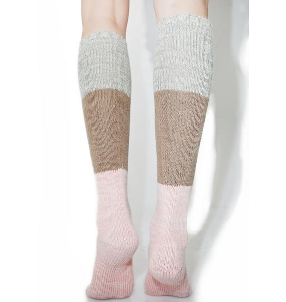 Neapolitan Knee High Socks