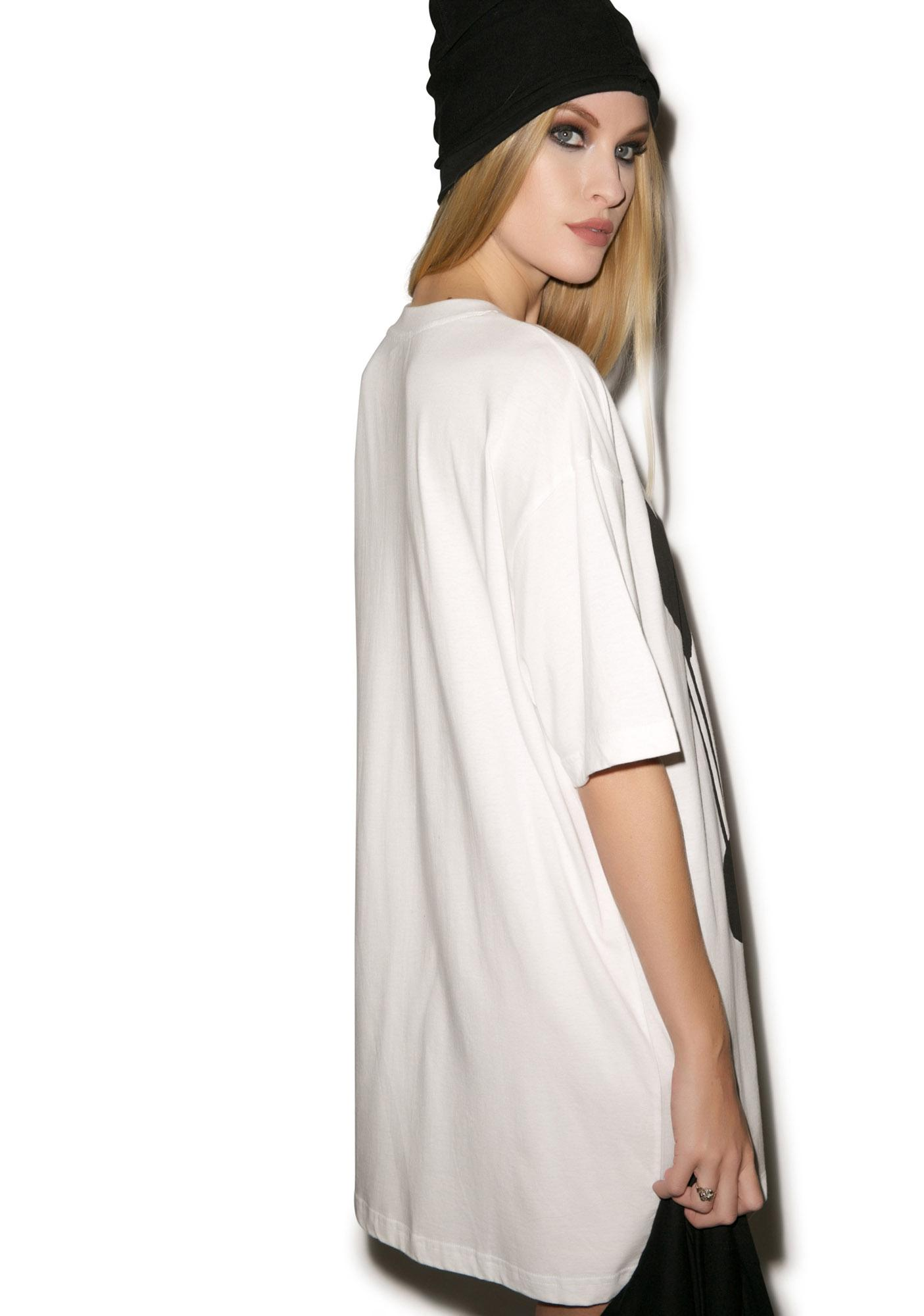 Long Clothing Drippy White T Shirt