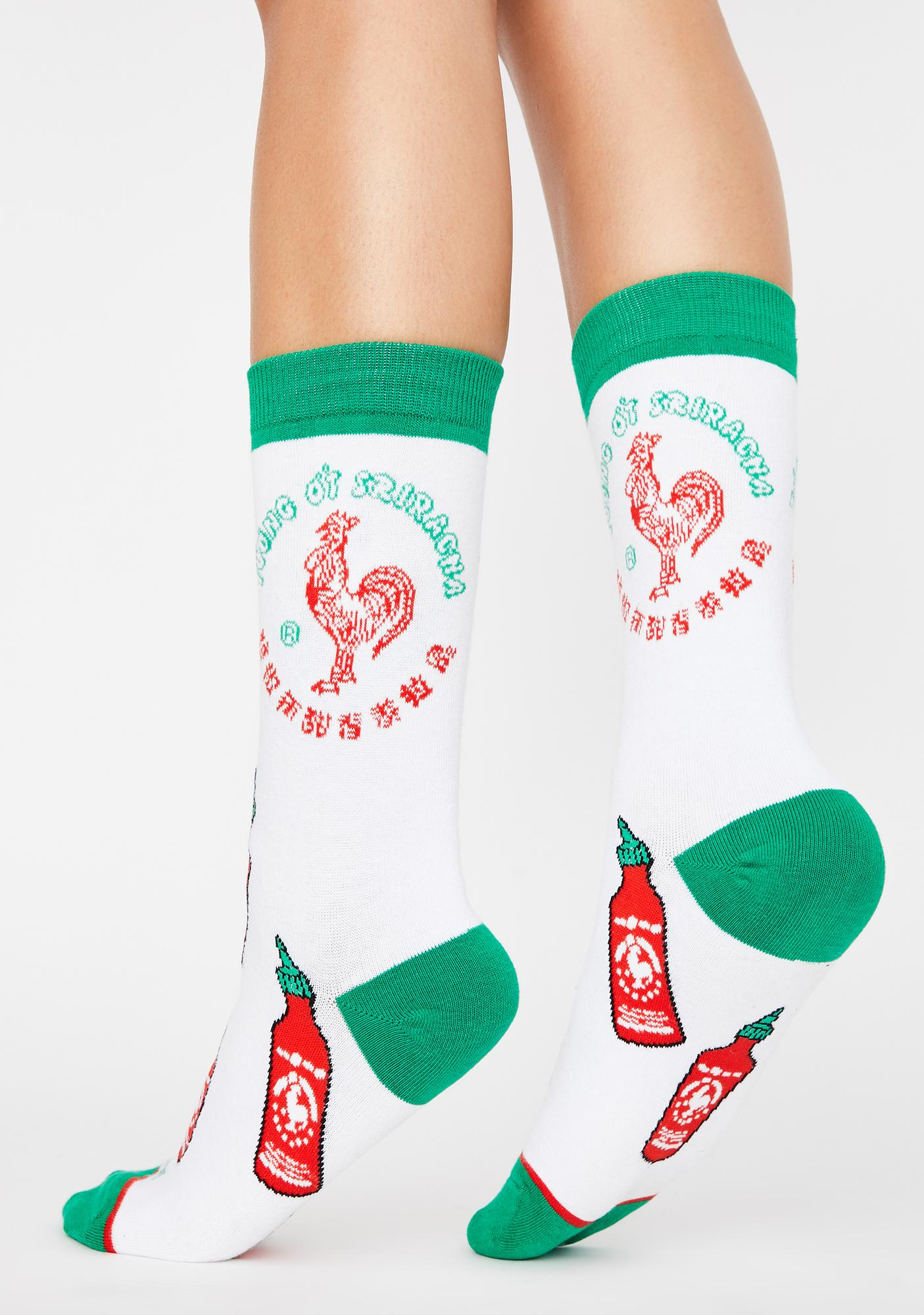 Cool Socks Sriracha All Over Crew Socks