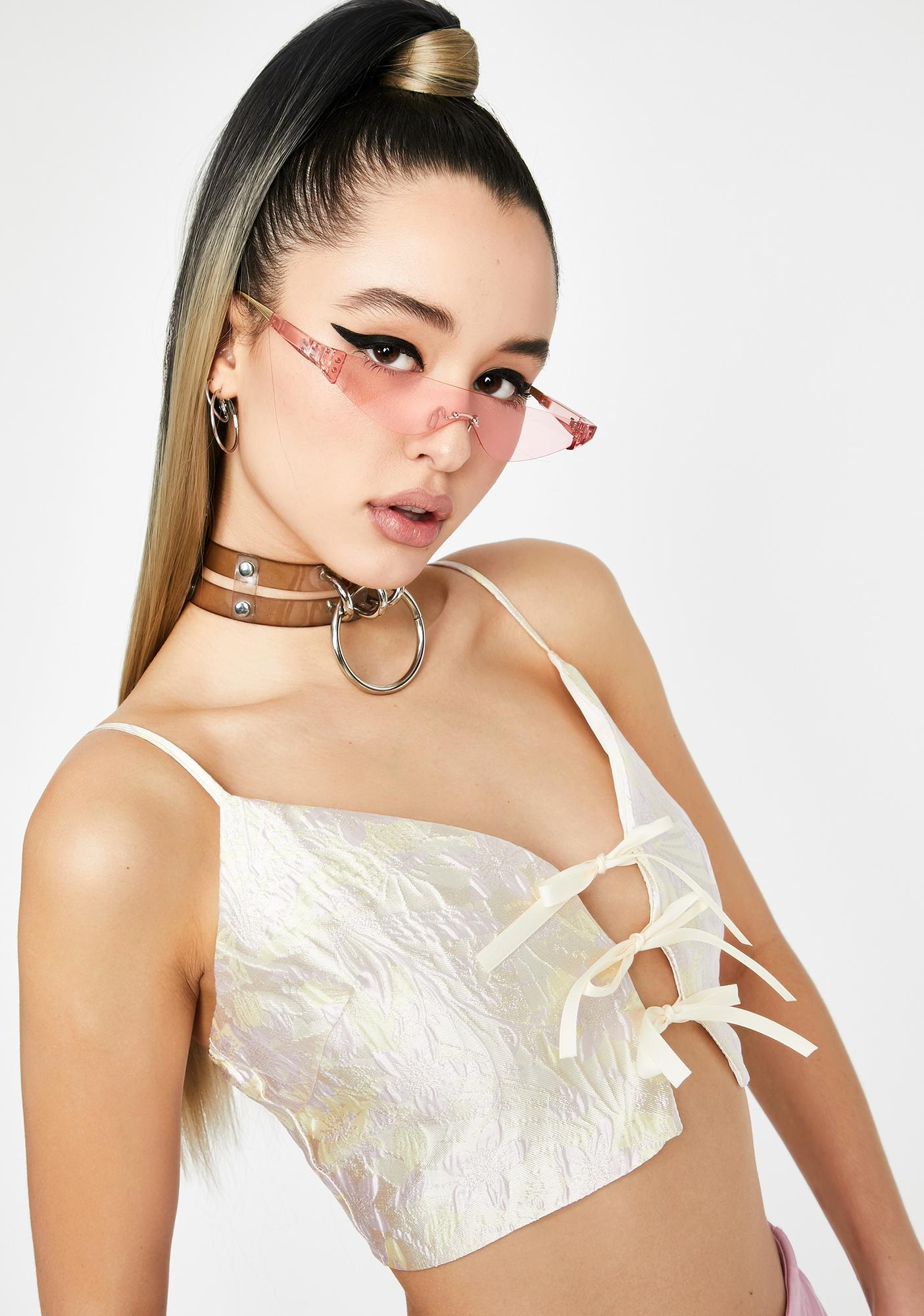 Pearl Idol Nights Brocade Top