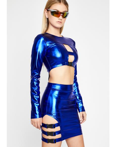 Intergalactic Commander Metallic Dress